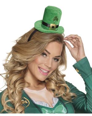 Mini chapéu leprechaun São Patrício para adulto