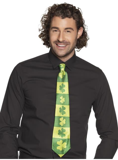 Corbata de tréboles San Patricio para adulto - para tu disfraz