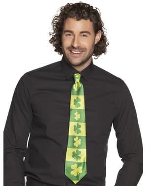 Krawat w koniczynki św. Patryka dla dorosłych
