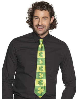 Saint Patrick clover tie for adults