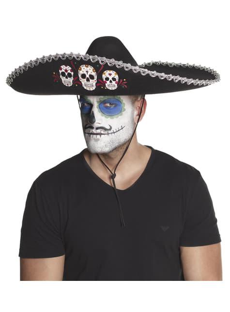 Sombrero de mariachi día de los muertos para adulto - para tu disfraz