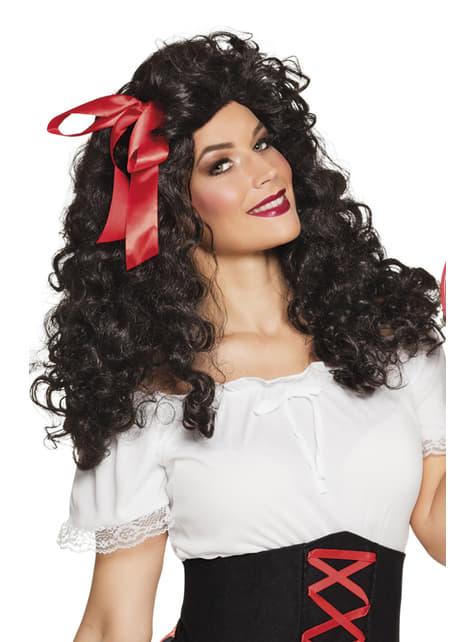 Черна циганска перука за жени