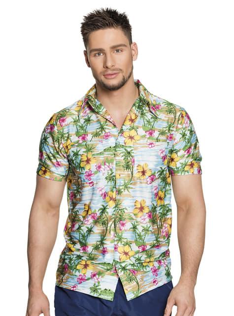 Camisa hawaiana colorida para hombre