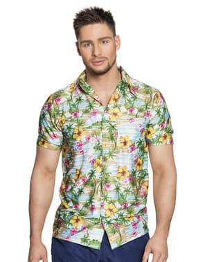 Camisa havaiana colorida para homem