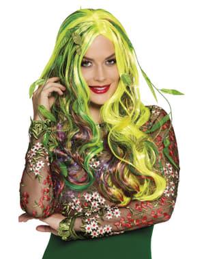 Peruca de rainha das plantas venenosas para mulher