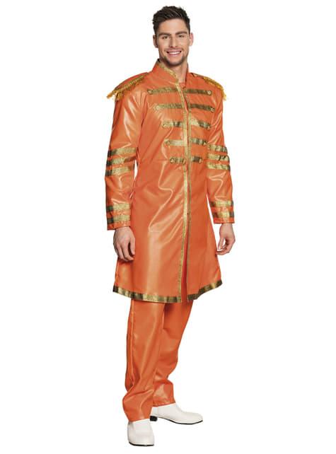 Disfraz de cantante de Liverpool naranja para hombre