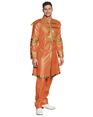 Pánský kostým Liverpoolský zpěvák oranžový