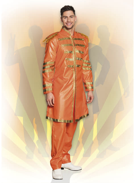 Fato de cantor de Liverpool cor de laranja para homem