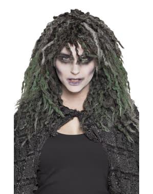 Perucă de vrăjitoare întunecată pentru femeie
