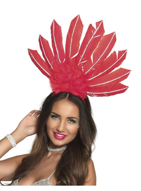 Tiara de carnaval brasileño roja para mujer - para tu disfraz