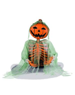 Figurine décorative citrouille fantôme