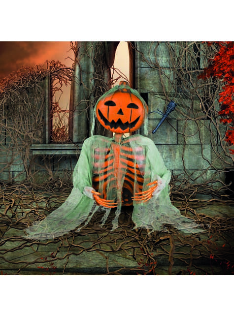Figura decorativa de calabaza fantasma - para niños y adultos