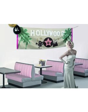 Banner na imprezę w stylu Hollywood