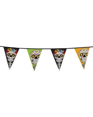 Bandeirola de Catrina Dia dos mortos mexicano