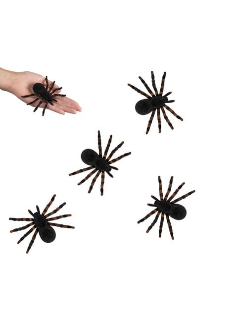 4 arañas repelentes Halloween - para tus fiestas