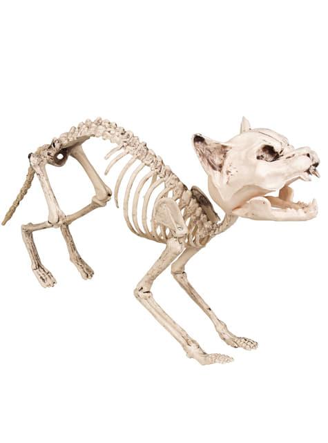 Figura decorativa de gato esquelético