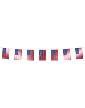 Girlanda z chorągiewkami-flagami USA