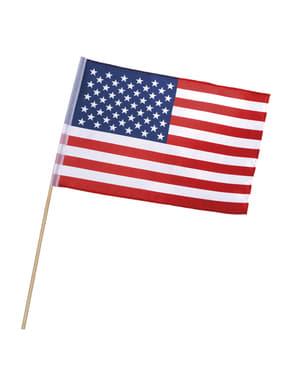 Bandeira dos Estados Unidos com haste