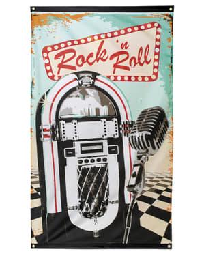 Bandeira de festa Rock n' Roll