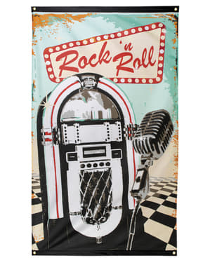Bandera de fiesta Rock n' Roll