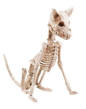 Figura decorativa de esqueleto de perro