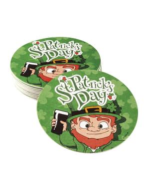 Sæt af 10 Saint Patrick ølbrikker