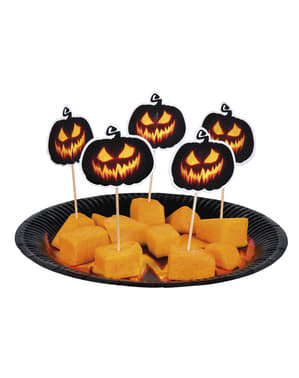 12 pumpkin toothpicks for cocktails