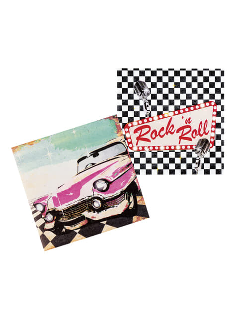 12 servilletas Rock n' Roll (33x33 cm)