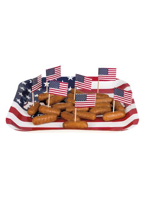 24 toppers decorativos bandera americana