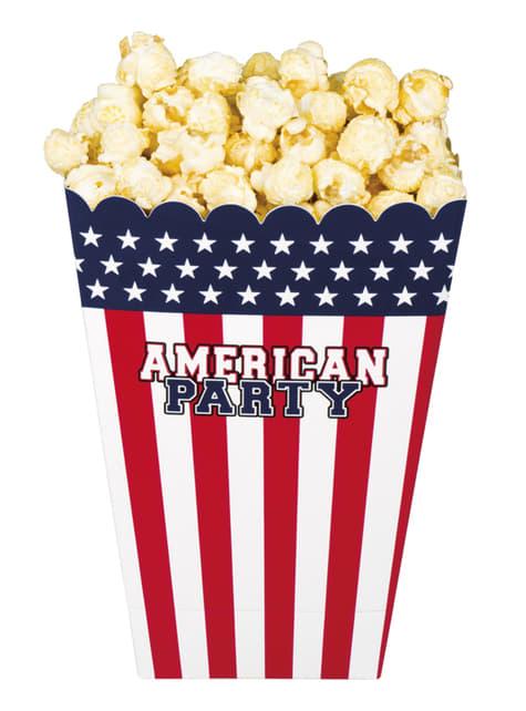 4 cajas para palomitas American Party (33x23x17cm cm)