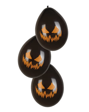 6 palloncini Creepy Pumpkin (25 cm)