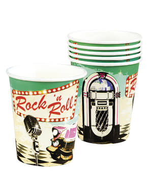 6 Rock n' Roll cups