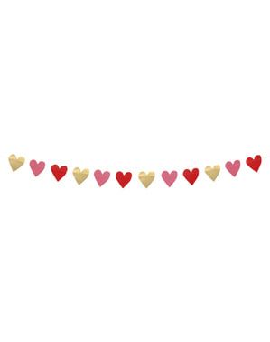 Різнокольорові серця гірлянди