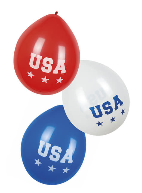 6 ballons American Party