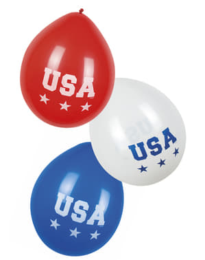 6 globos de USA - American Party (25 cm)