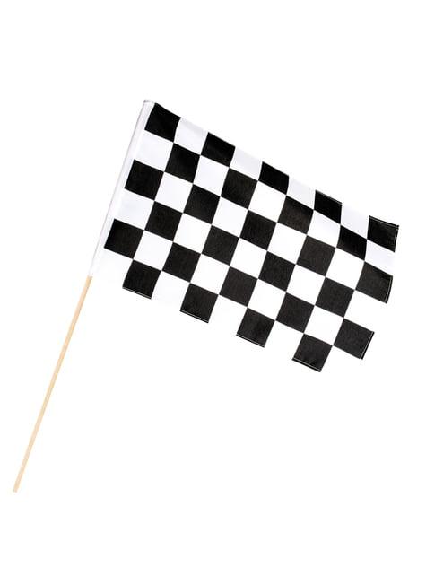 Bandeira aos quadrados com haste
