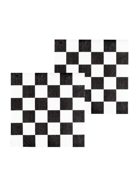 12 servilletas de bandera a cuadros (33x33 cm)