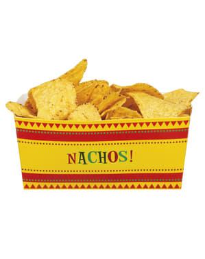 4 Mexico Party Nacho-Box (8x7x15 cm)