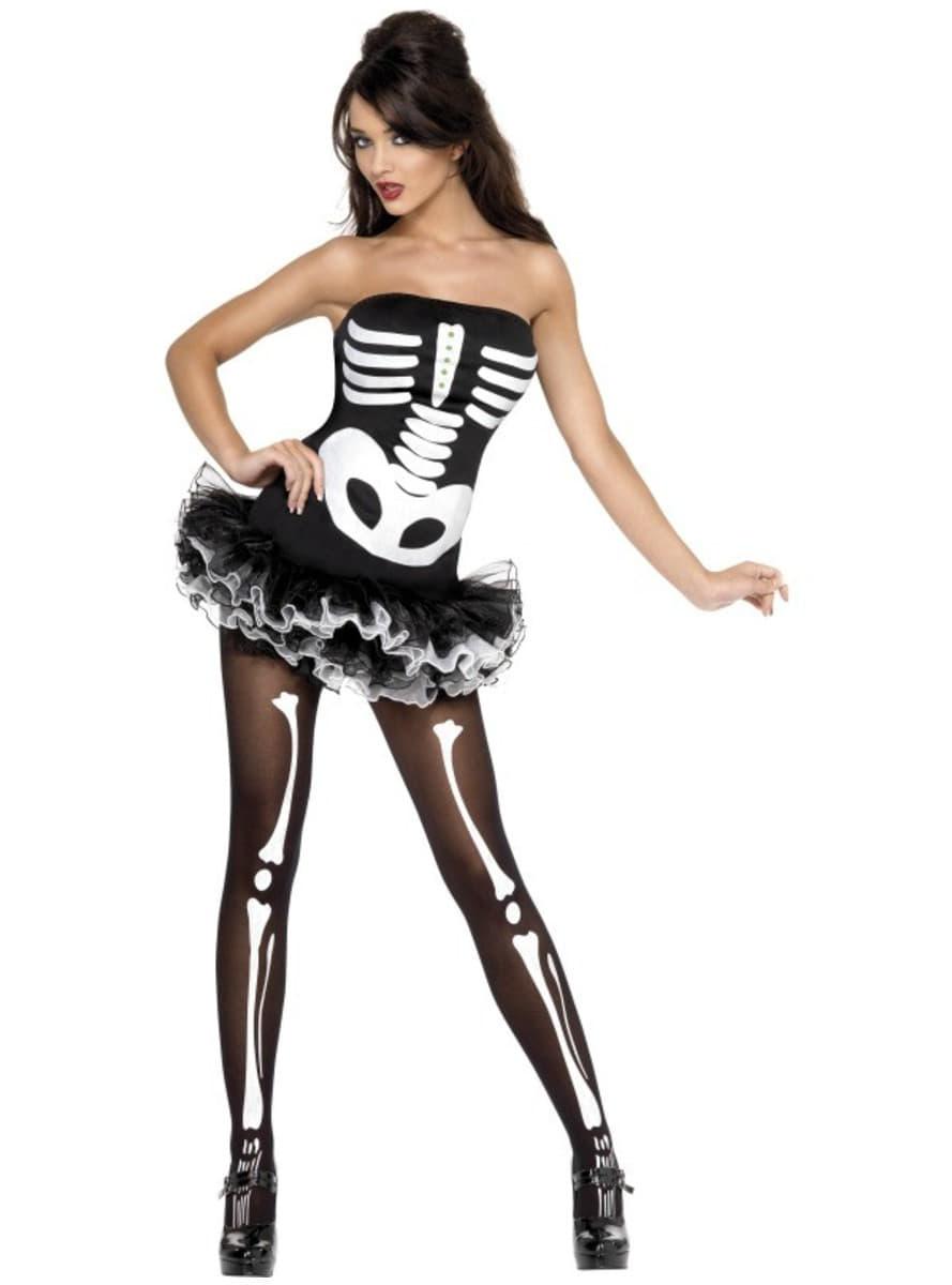 Disfraz de esqueleto Fever para mujer. Have Fun! | Funidelia