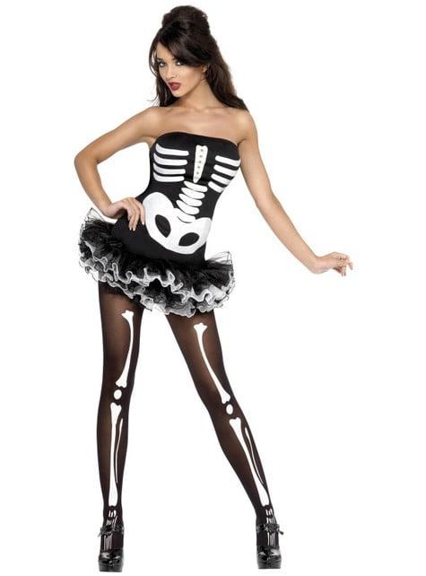 Fato de esqueleto Fever para mulher