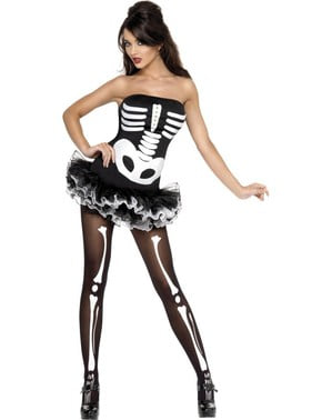 Disfraz de esqueleto Fever para mujer