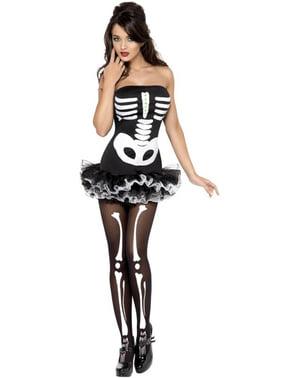Strój damski szkielet Fever