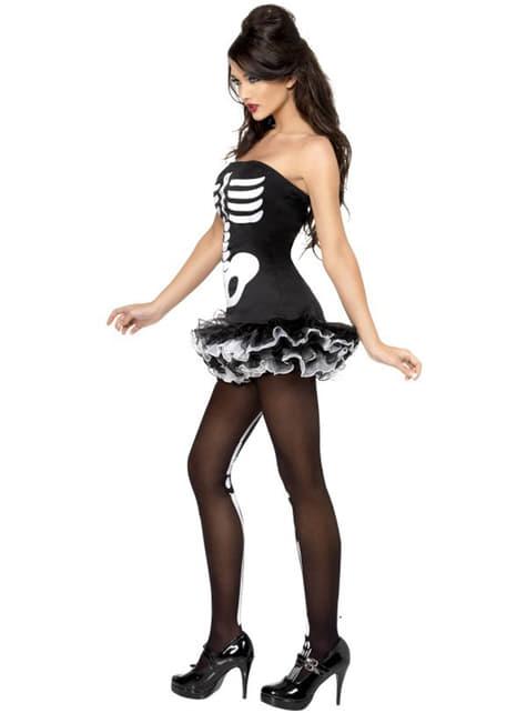 Disfraz de esqueleto Fever para mujer - traje