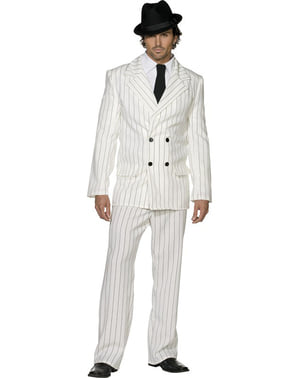 Fever White Gangster Adult Costume