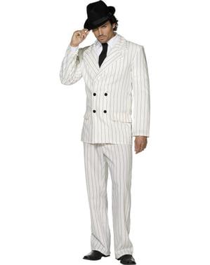 Kostým pro dospělé gangster oblek bílý