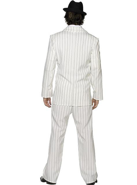 Gangster wit Kostuum voor mannen