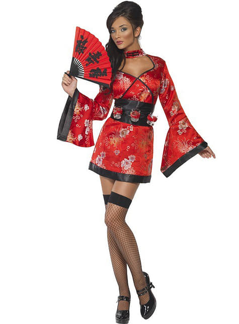 Fever Geisha Costume with shots