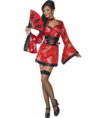 Geisha med shots Fever Maskeraddräkt