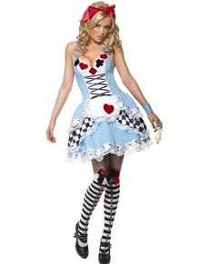 Fever Miss Wonderland Kostyme Voksen