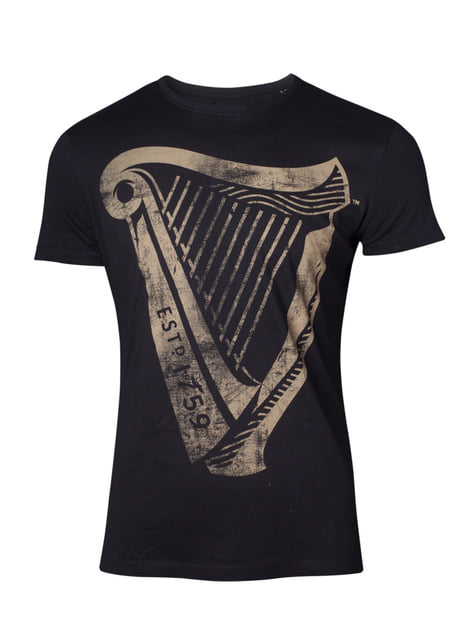 T-shirt Guinness Distressed Harp homme